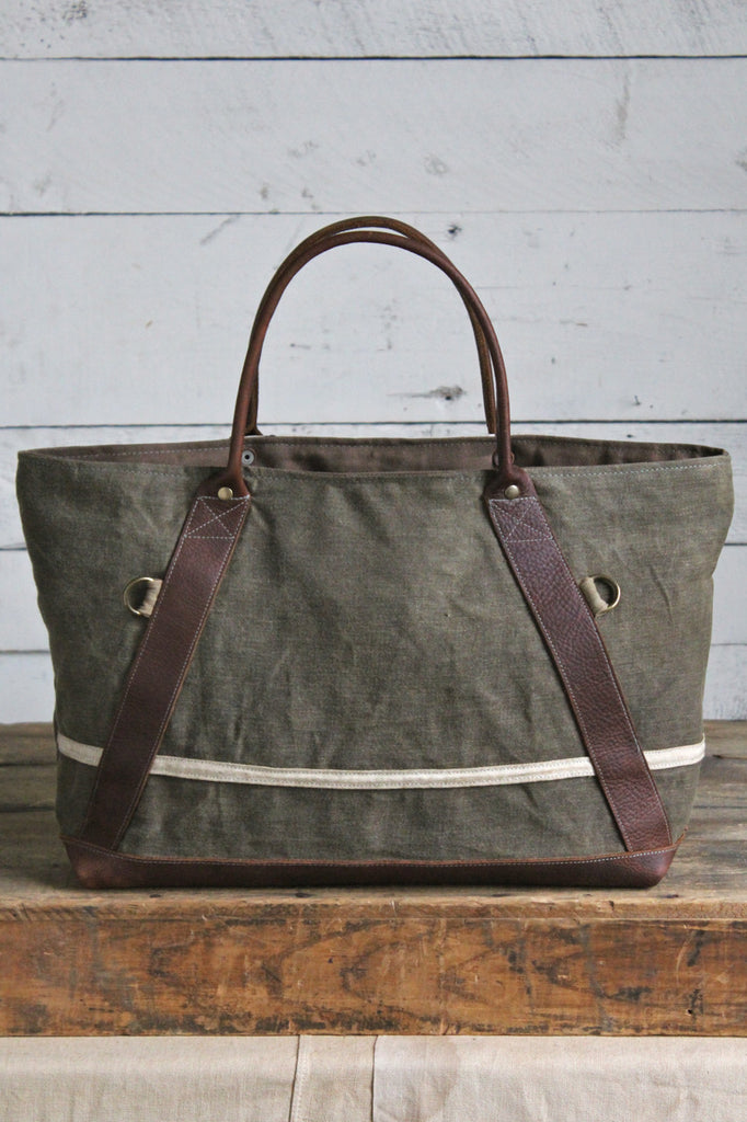 World War 1 era Canvas & Lumber Apron Carryall