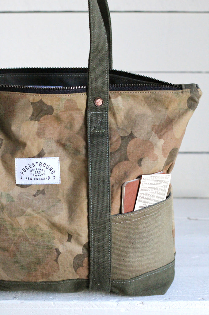 1950's era Cloud Camo Travel Tote