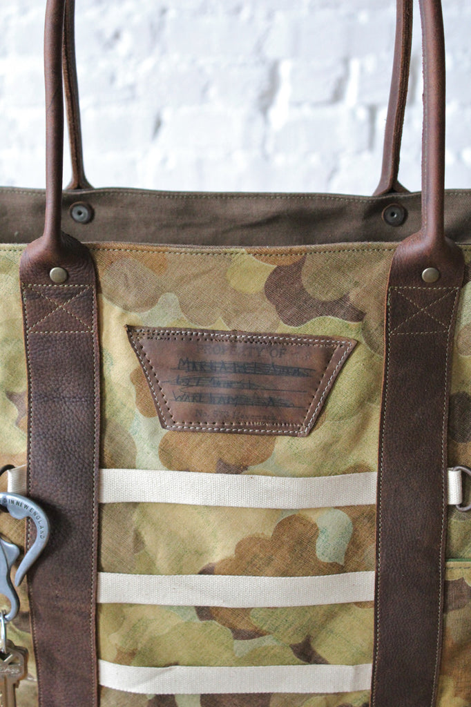 Korean War Cloud Camo & 1940's era Promo Apron Carryall