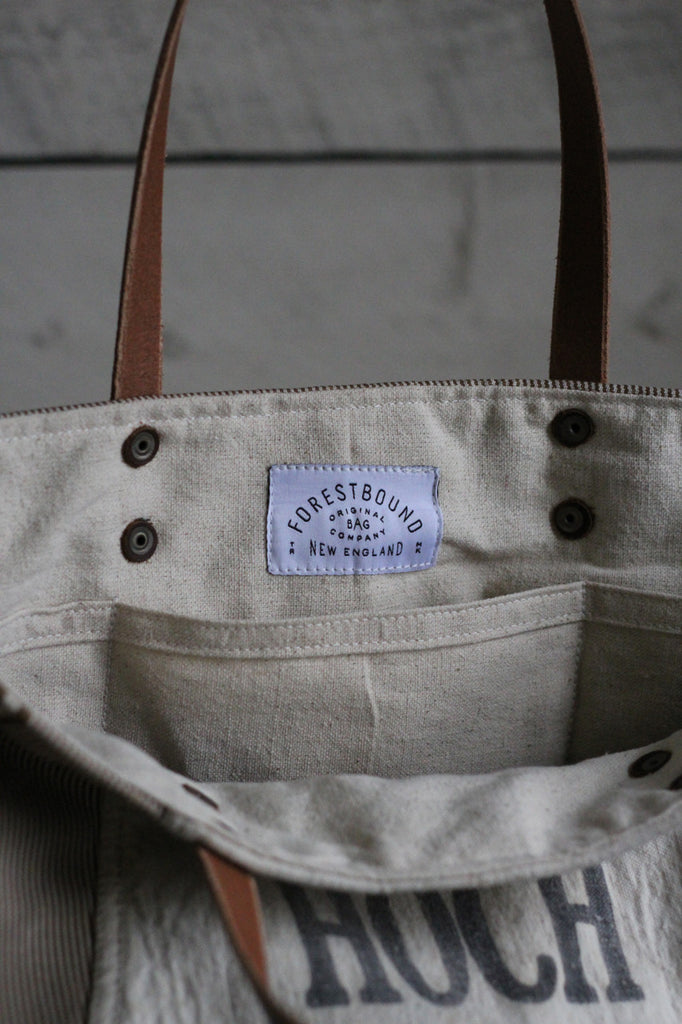 Deadstock Striped Canvas & 1940's era Lumber Apron Tote Bag