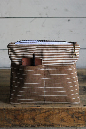 Deadstock Striped Canvas Pocket Utility Pouch