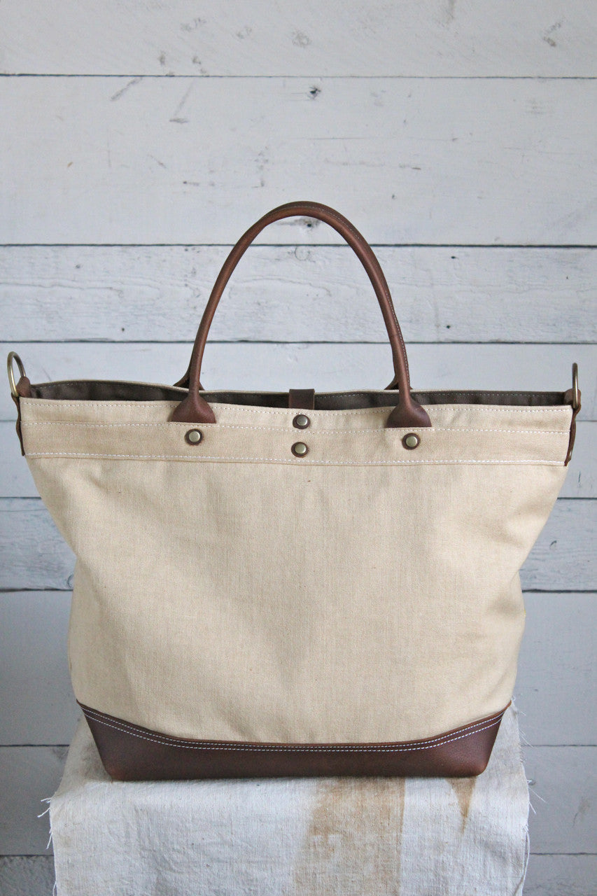 1930's era Canvas Banner Weekend Bag