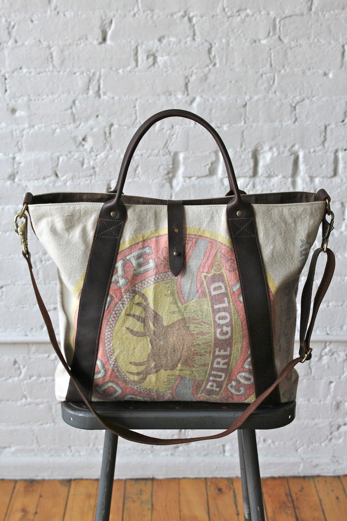 1940s era Feed Sack Carryall