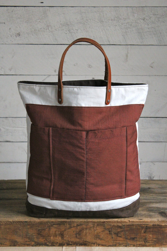 WWII era Cotton & Work Apron Pocket Tote