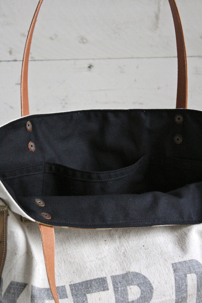 1940's era Patched Feed Sack Tote Bag