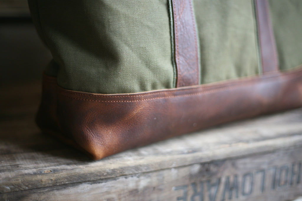 WWII era Men's Canvas and Leather Carryall - SOLD