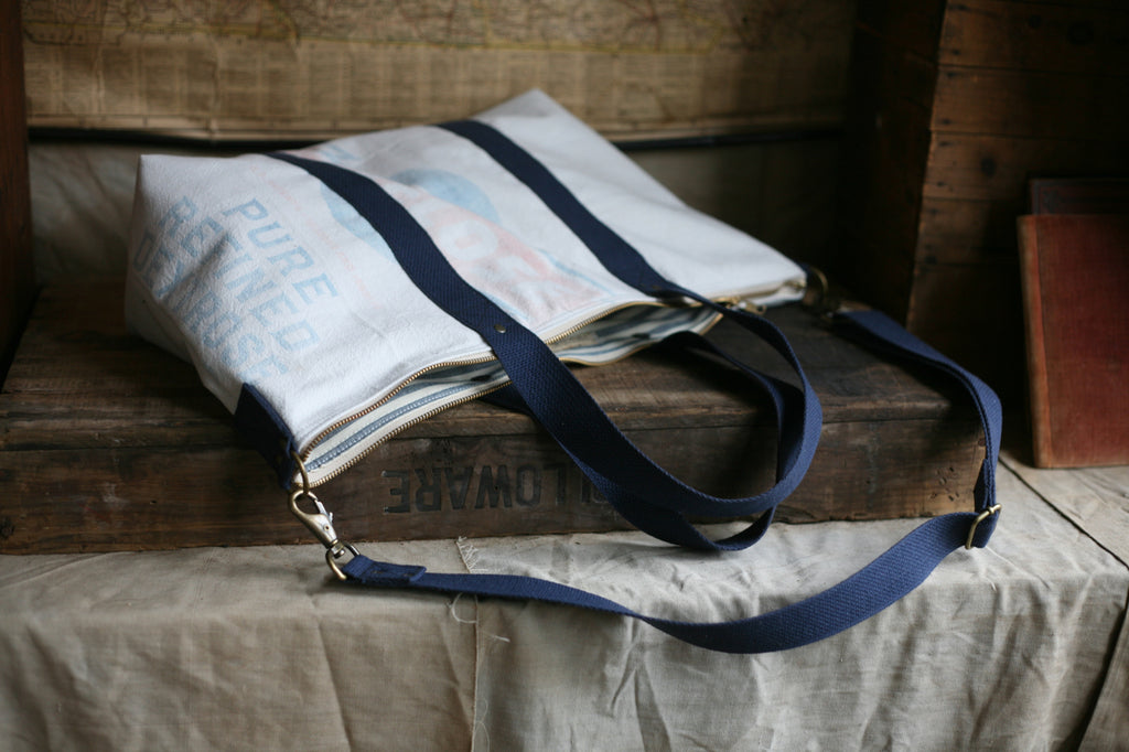 1950's era Farm Feedsack Weekend Bag - SOLD