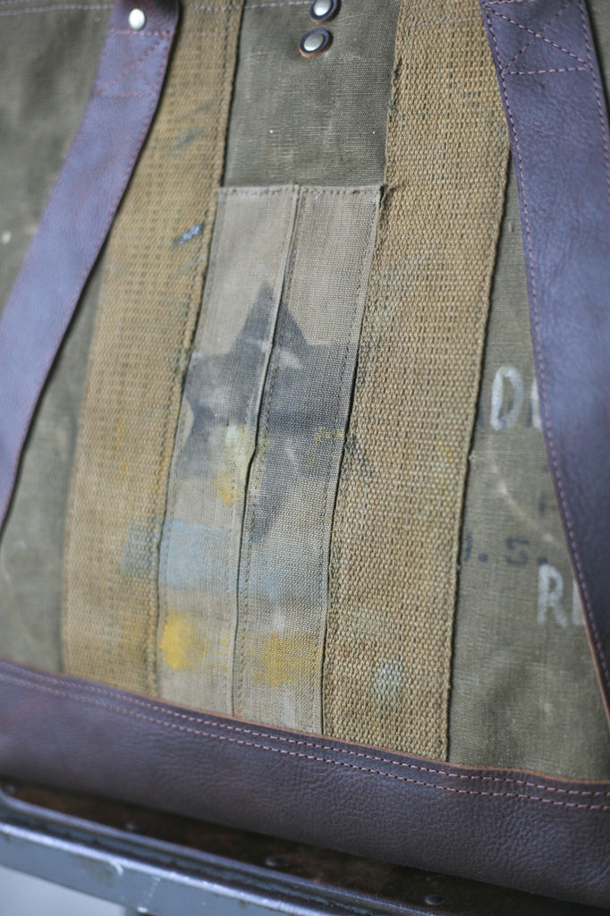 WWII era Military Canvas Weekend Bag