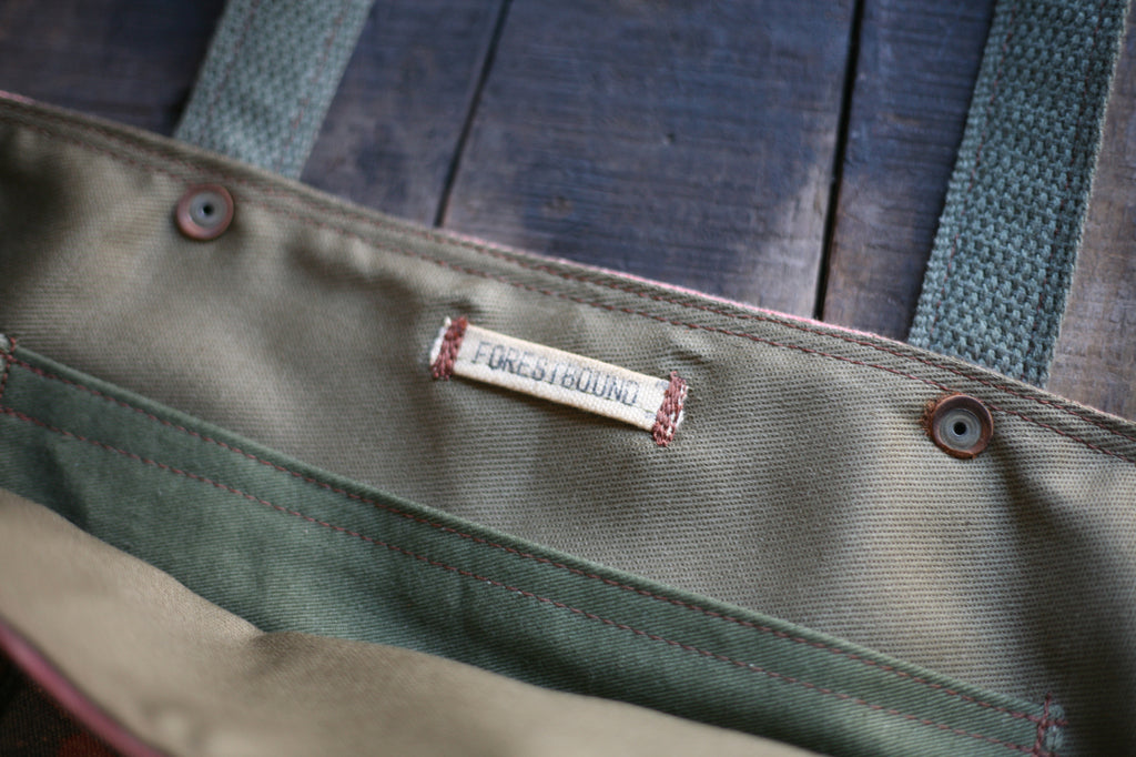 1940's era Feedsack & Canvas Carryall - SOLD