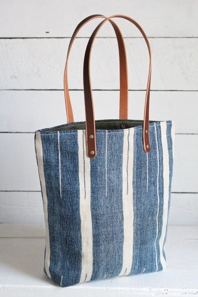 Antique Indigo Dyed Cotton Tote Bag