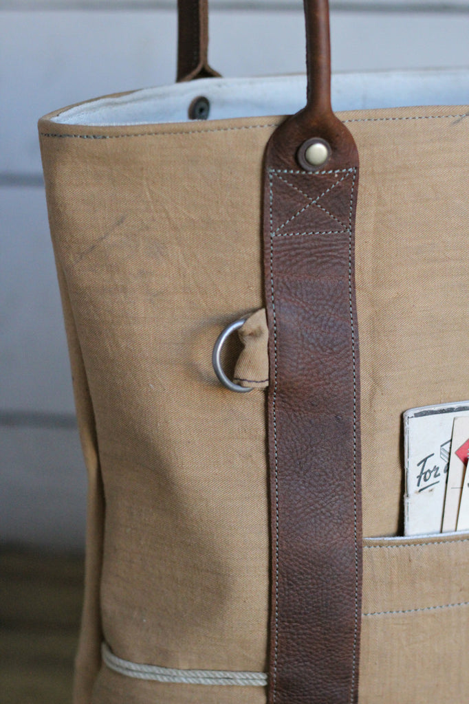 1930's era Santa Fe Canvas Carryall