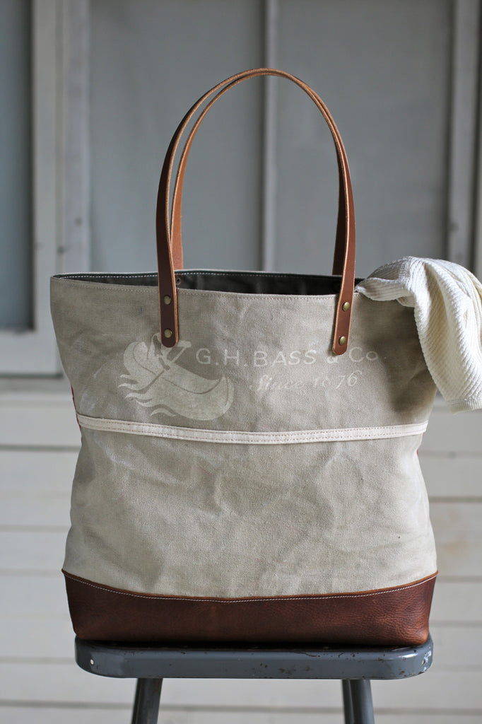 1950's era Canvas and Newspaper Apron Carryall