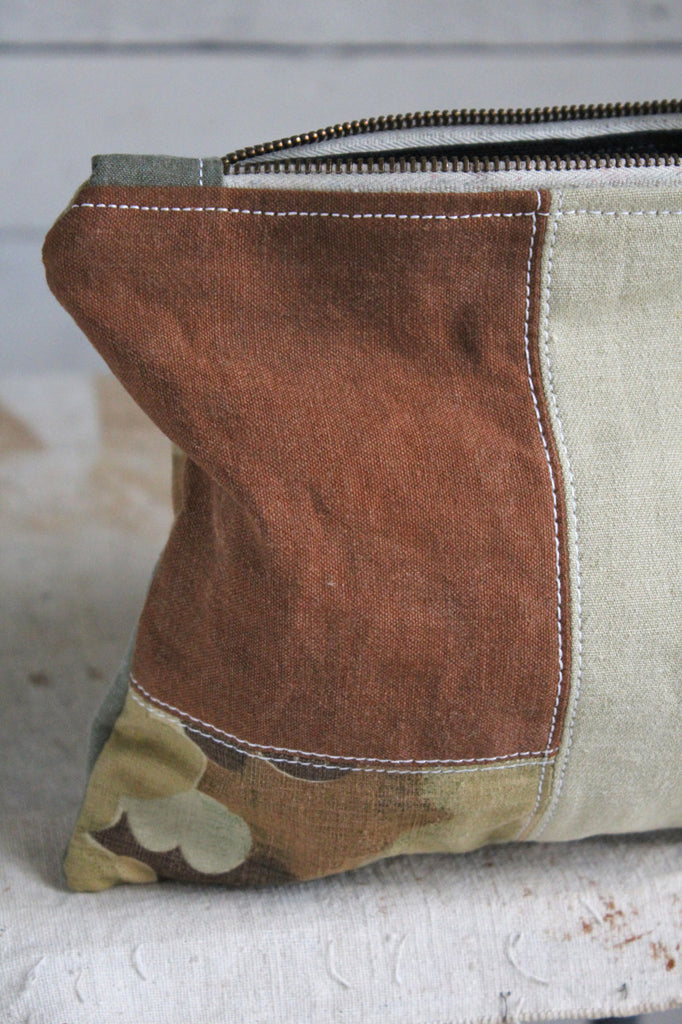 WWII era Pieced Canvas Utility Pouch