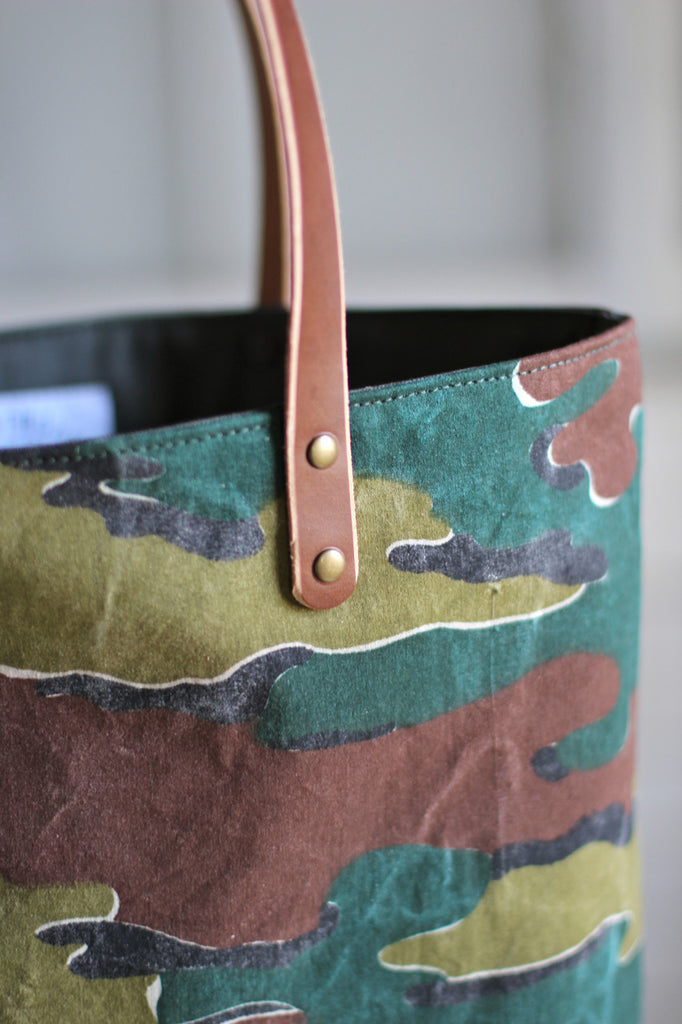 1950's era Jigsaw Pattern Camo Carryall