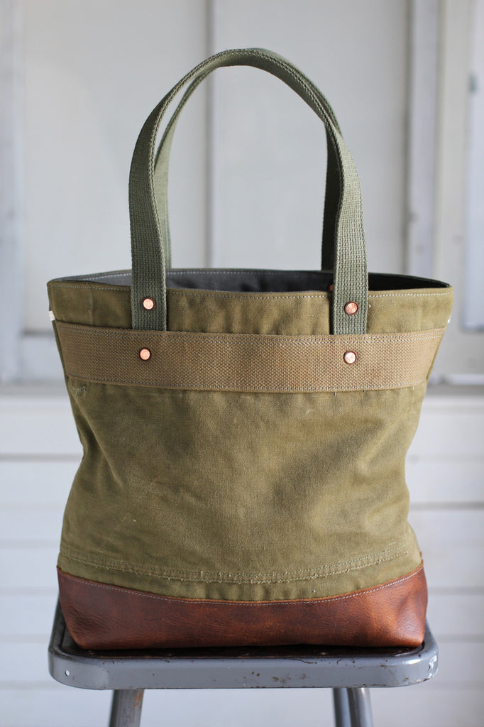 WWII era Canvas and Work Apron Carryall