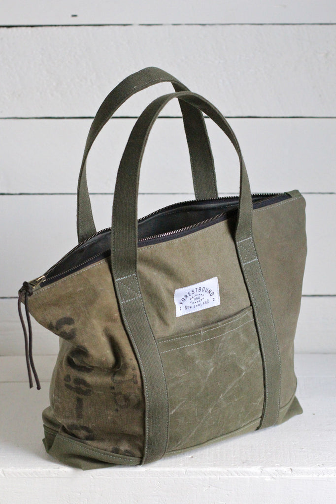 WWII era Canvas Travel Tote