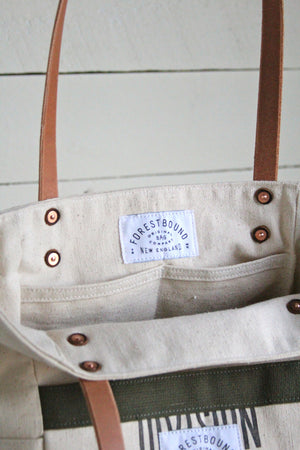 1950's era Canvas Pocket Tote Bag