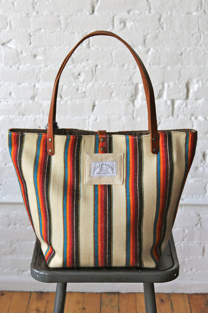 1950's era Striped Wool Carryall