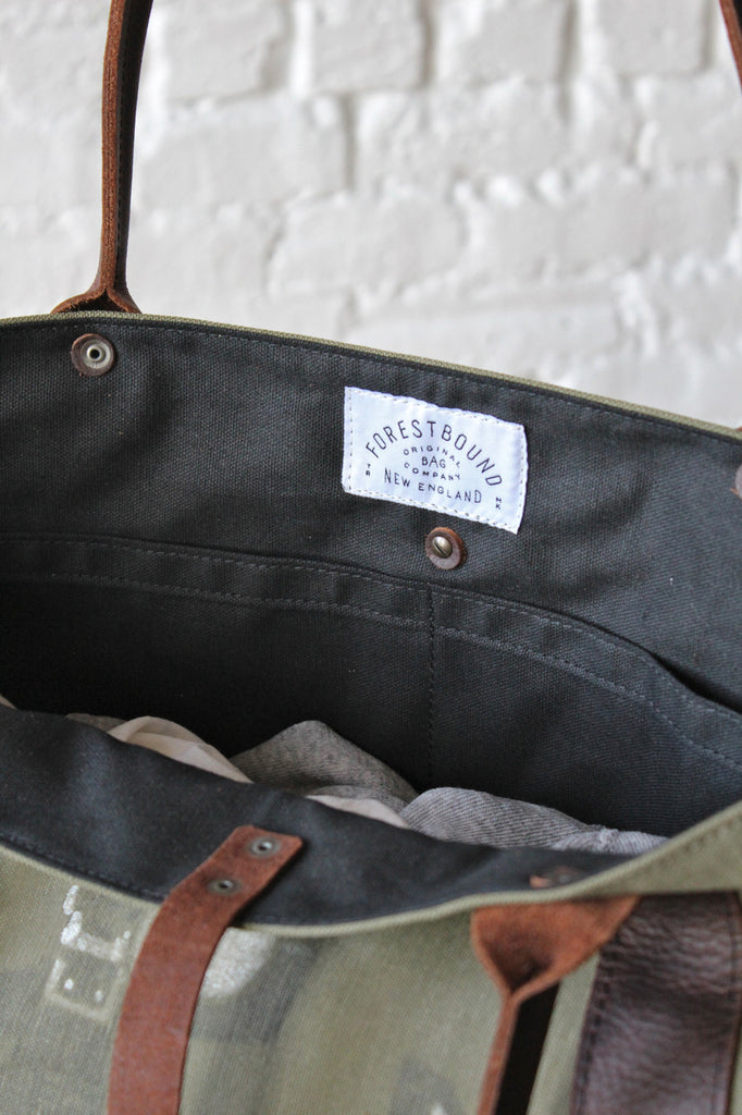 WWII era US Navy Hand Painted Canvas Weekender