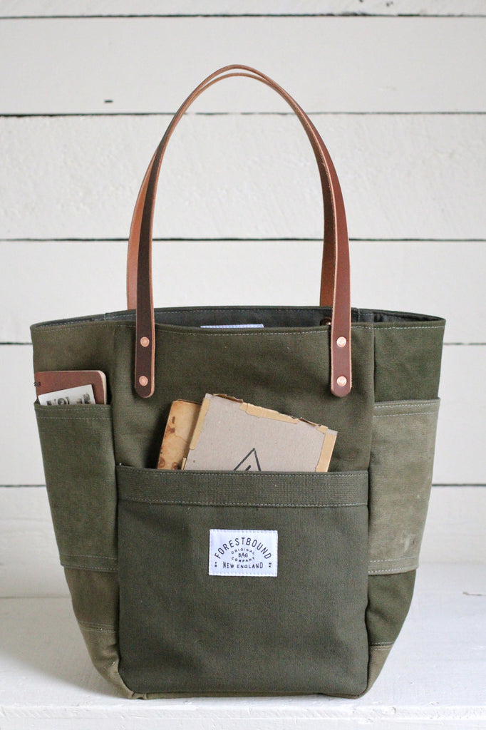 WWII era Canvas Pocket Tote