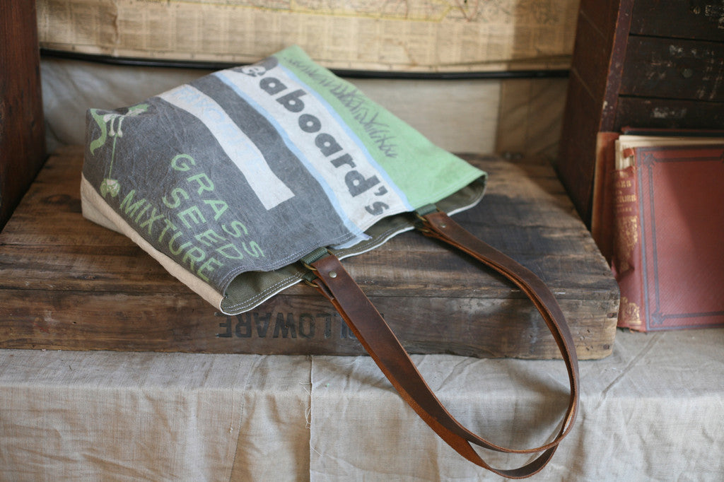 1950's era Farm Feedsack Tote Bag - SOLD