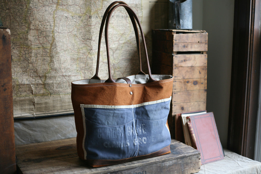 WWII era Canvas & 1940's Work Apron Carryall - SOLD
