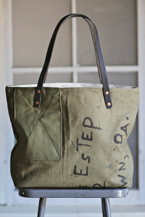 WWII era Military Canvas Tote