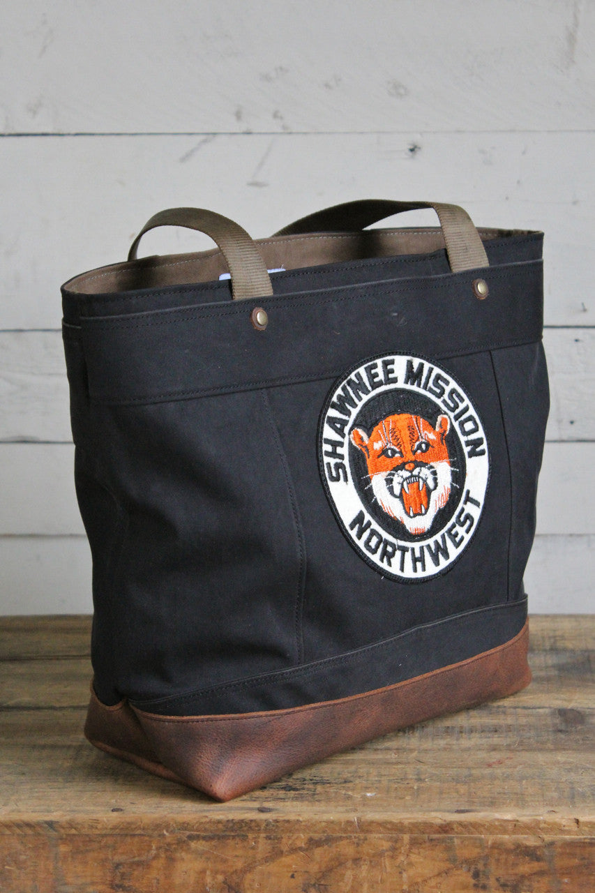 1940's era Black Canvas Carryall
