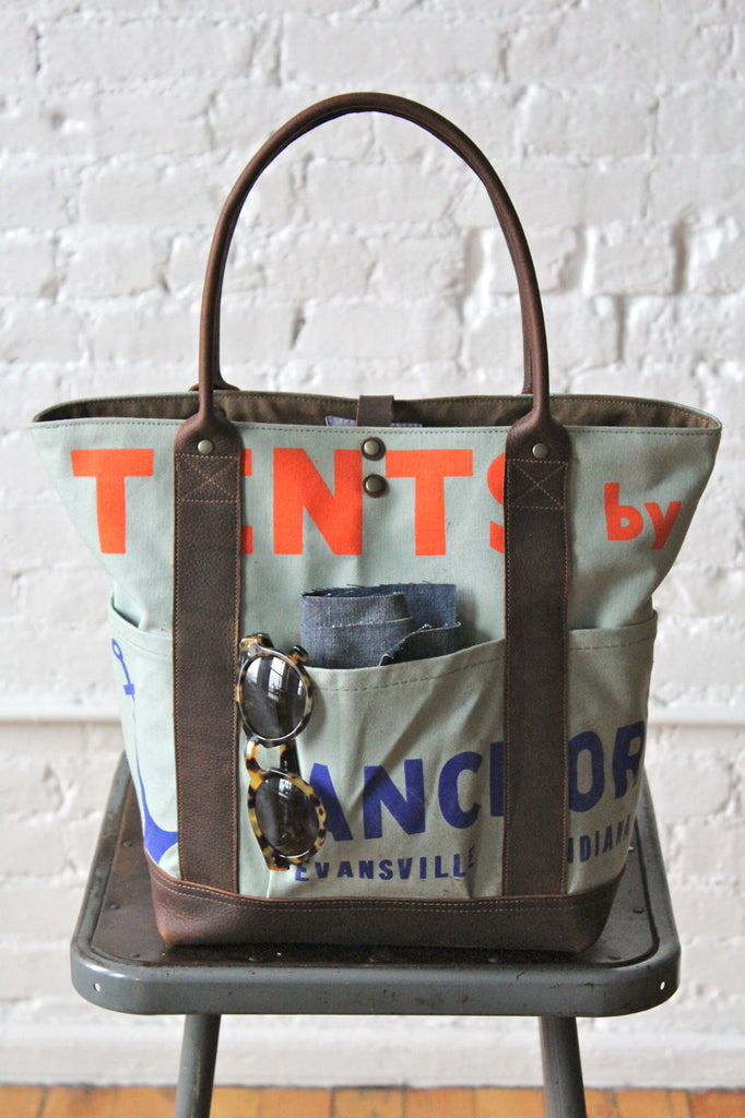 1940's era Apron & Painter's Drop Cloth Carryall
