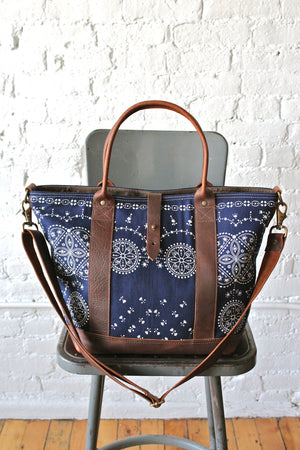 1950s era Bandana Weekend Bag