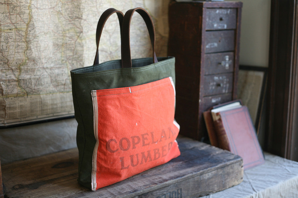 WWII era Canvas & 1950's Work Apron Carryall - SOLD