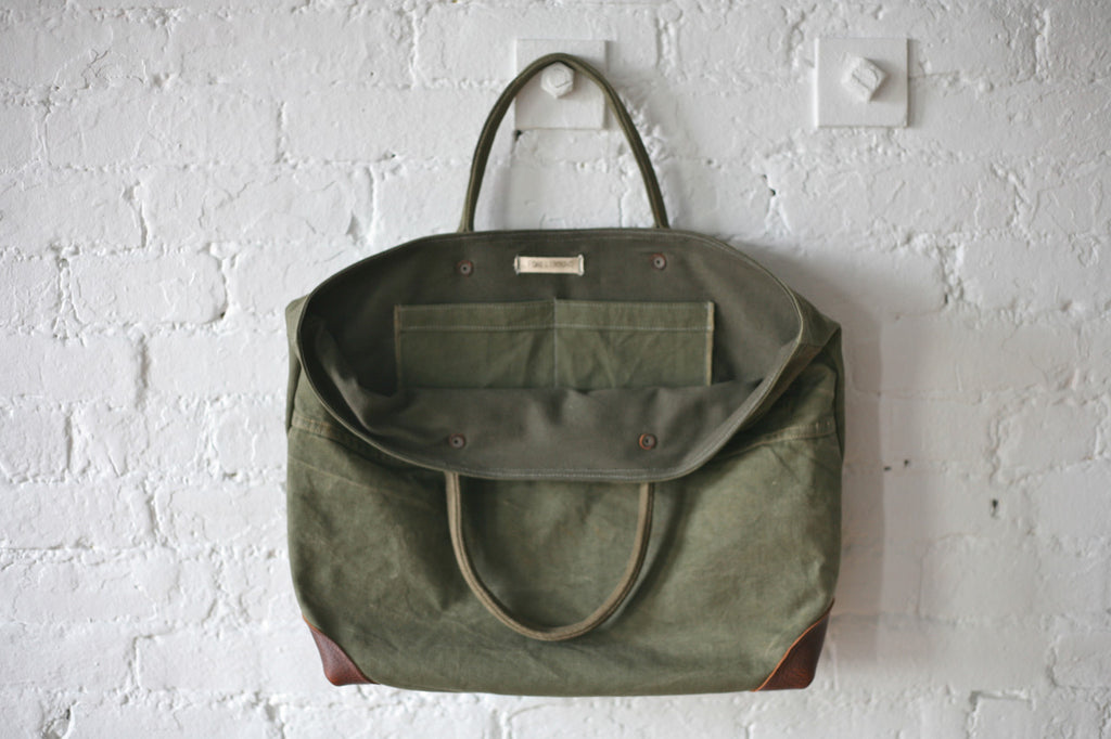 WWII era Canvas Carryall