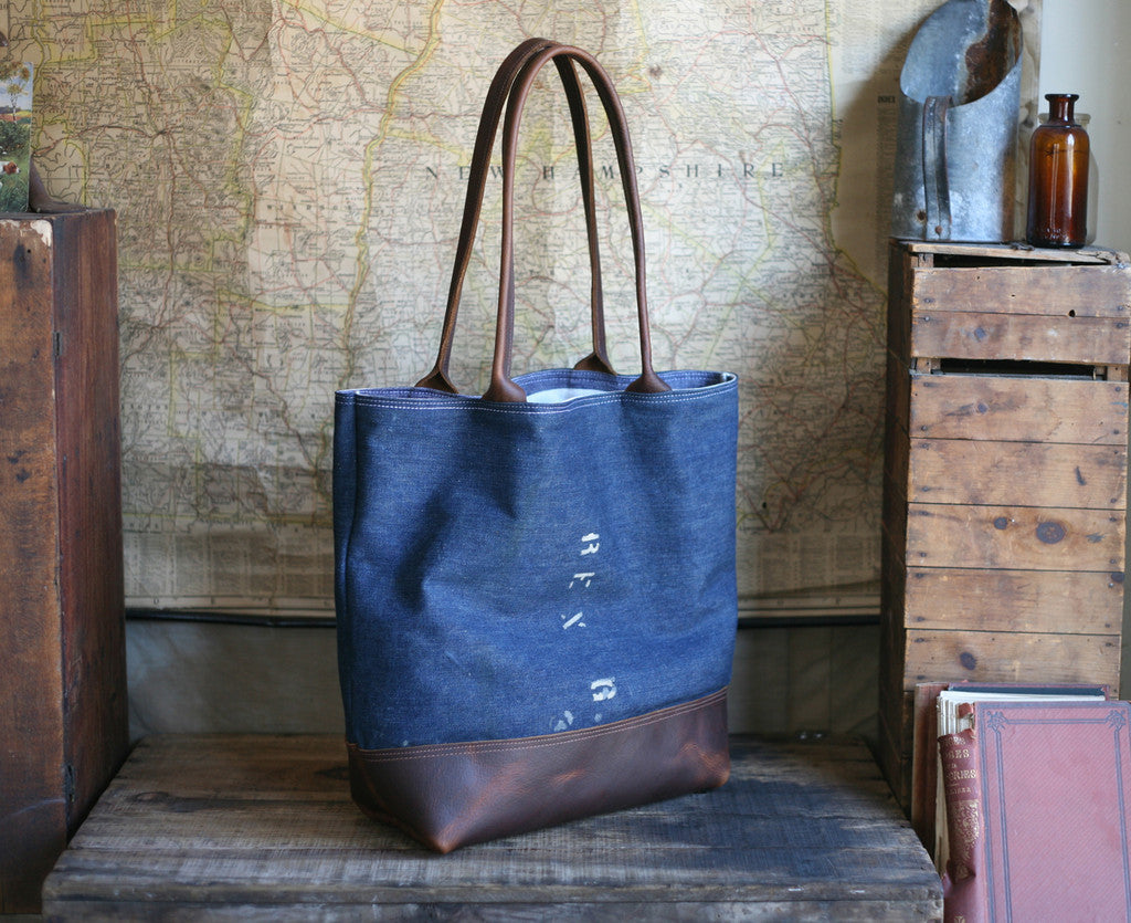 WWII era USN Denim Carryall - SOLD