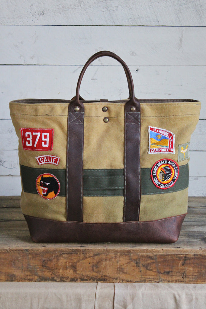 1930's era Canvas & Boy Scout Patch Carryall