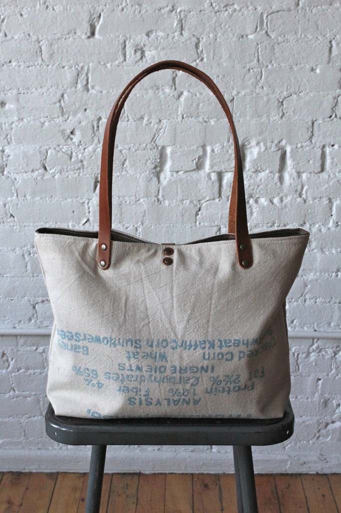 1950's era Feed Sack Tote Bag