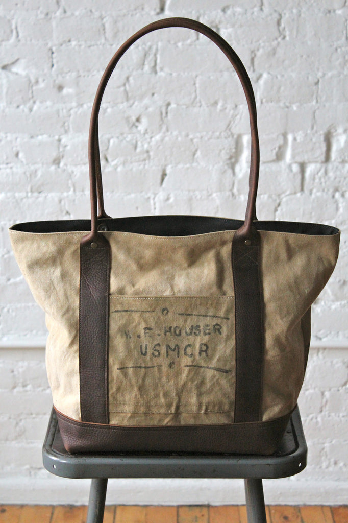 WWII era USMC Canvas Carryall