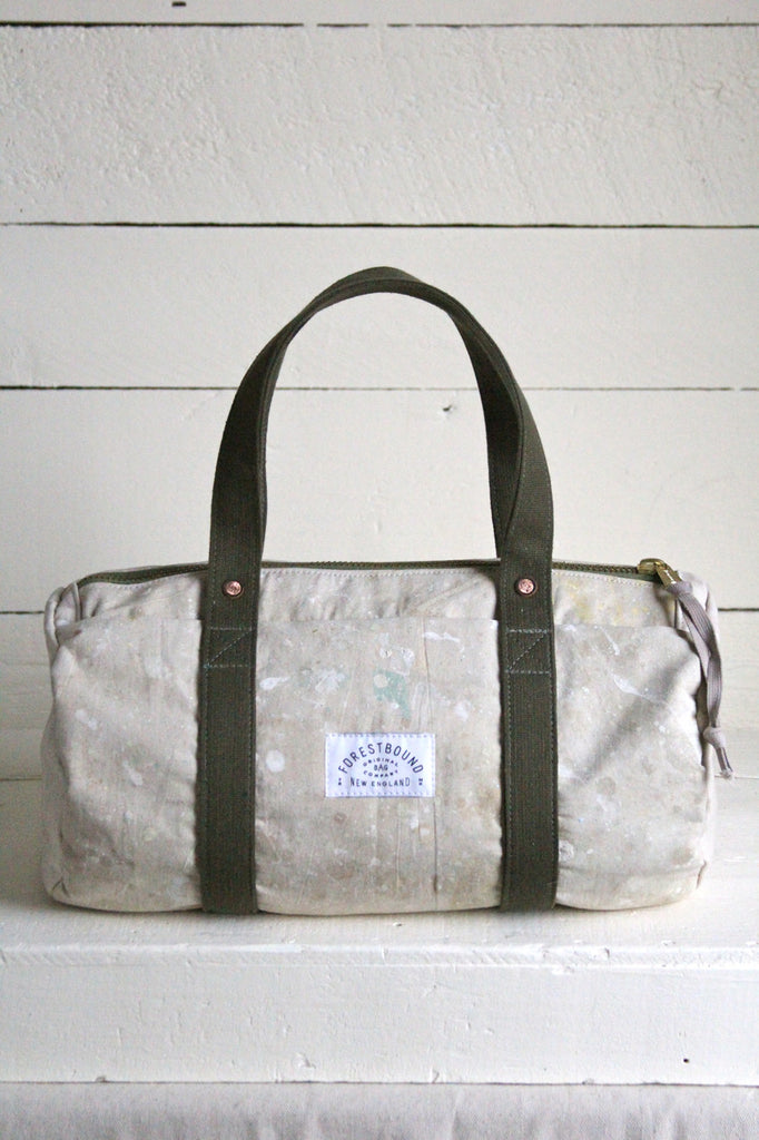 1960's era Painter's Drop Cloth Duffle Bag