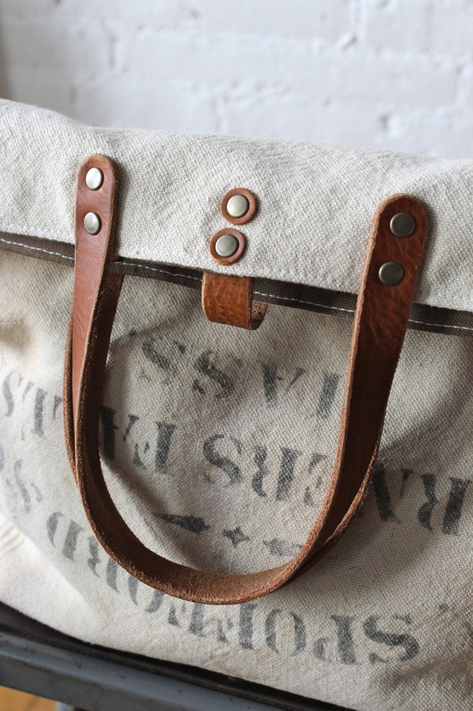 1920's era Farm Feedsack Tote Bag