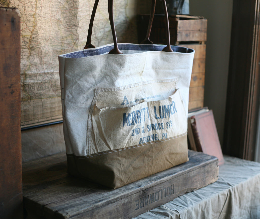 1950's era Canvas & Work Apron Carryall - SOLD