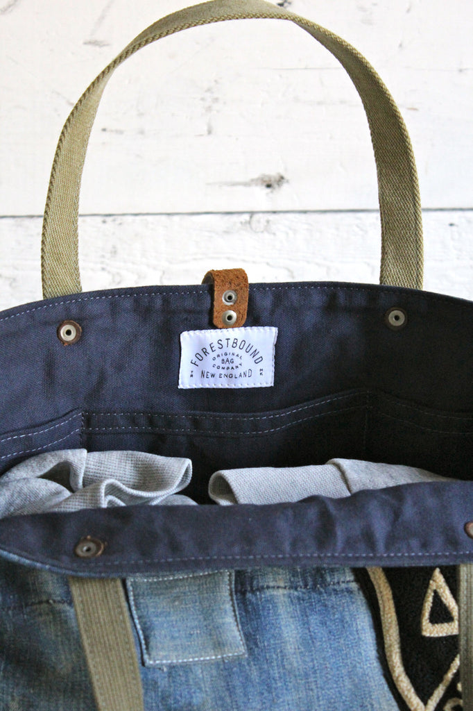 WWII era Denim Weekend Bag