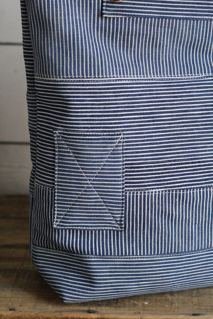 The Rambler Tote / 1930's era Hickory Stripe
