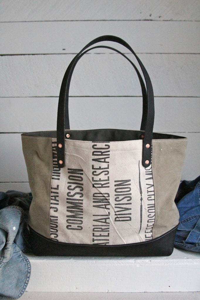 1940's era Canvas & Work Apron Carryall