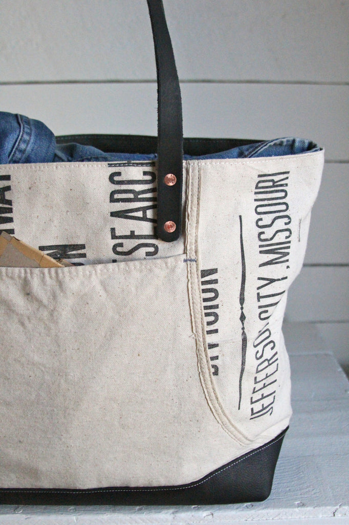 1950's era Canvas & Work Apron Carryall