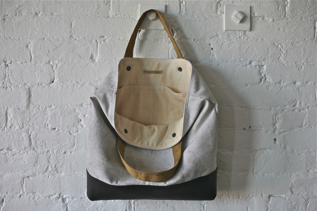 1950's era Canvas and Leather Carryall - SOLD