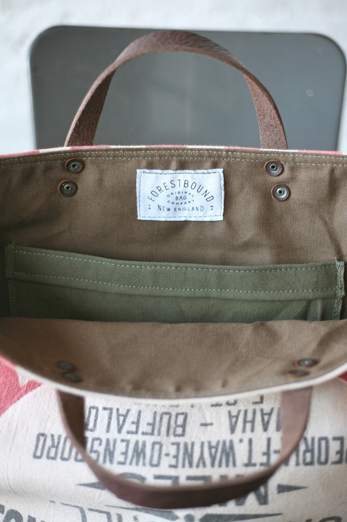 1950's era Feed Sack Carryall