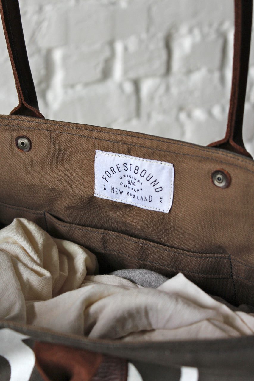 1940's era Waxed Canvas Promo Apron Weekend Bag