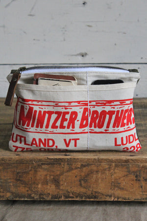 WWII era Canvas & Lumber Apron Utility Pouch