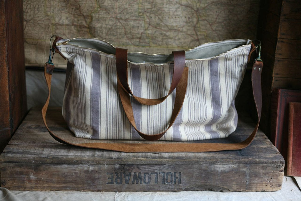 1920's era Cotton Weekend Bag - SOLD