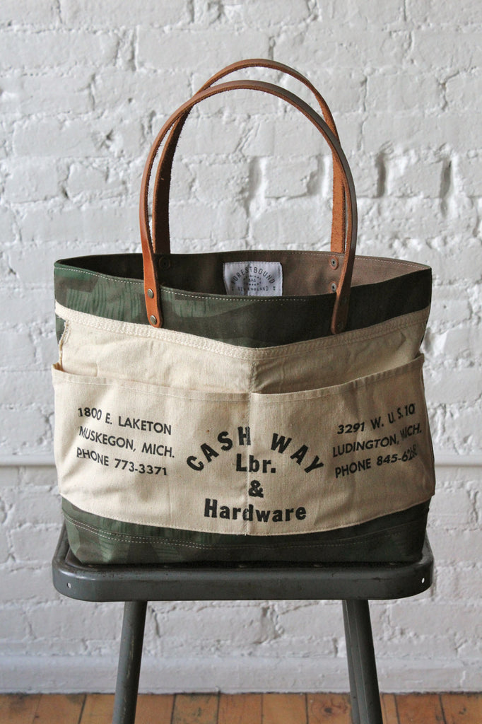 WWII era Camo and Work Apron Carryall