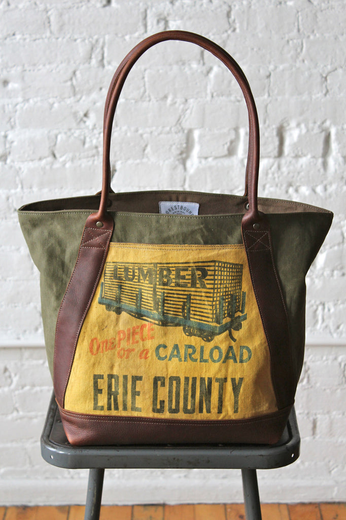 WWII era Canvas and Lumber Apron Carryall